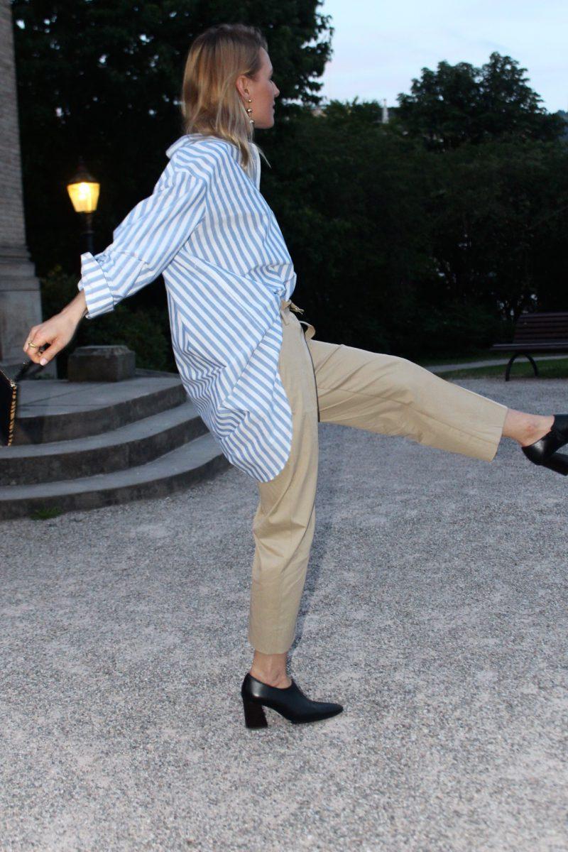 beige pants zara streetstyle
