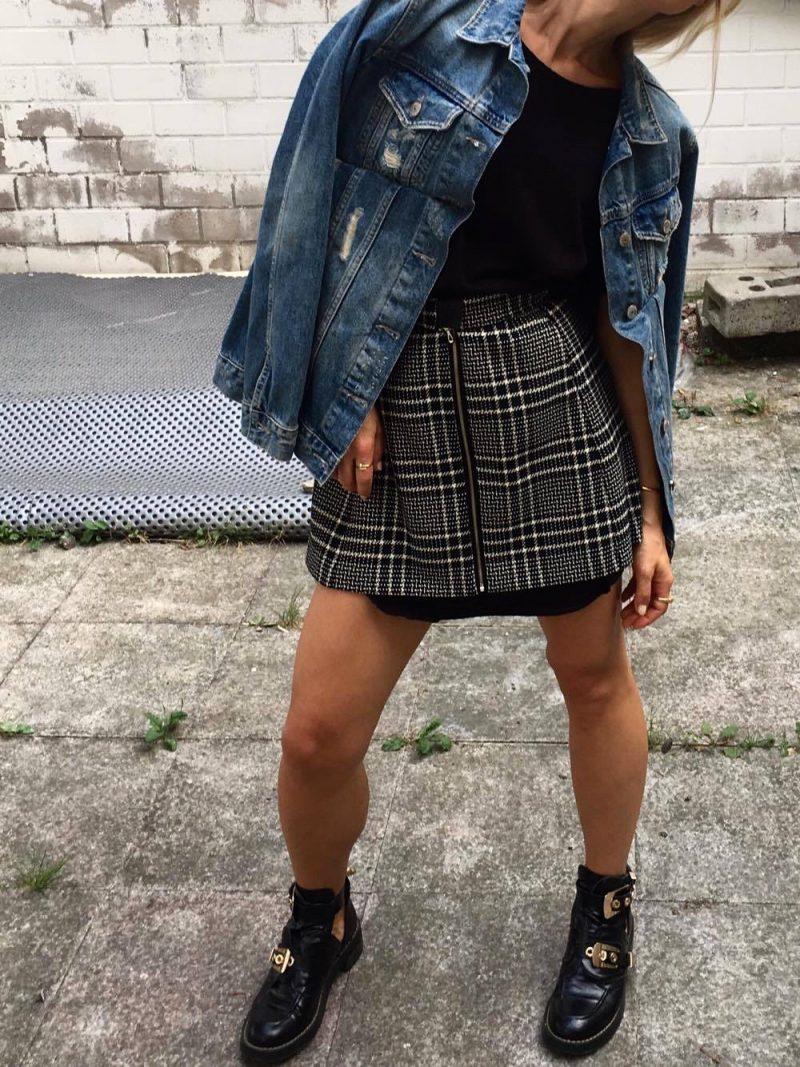 mini skirt zara black