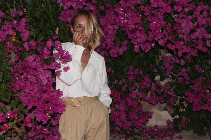 weiße bluse H&M Volant