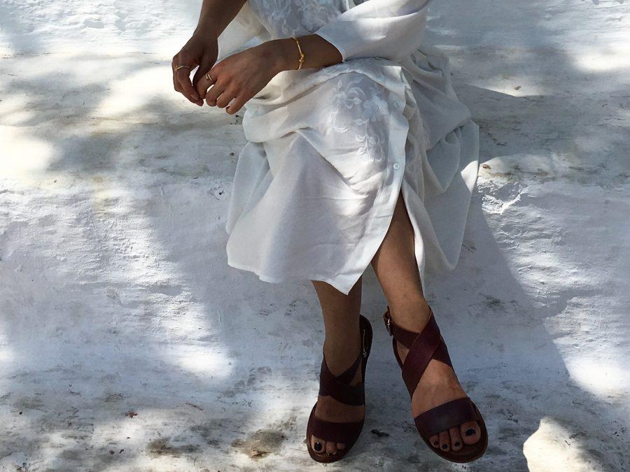 weißes langes Hemd h&M