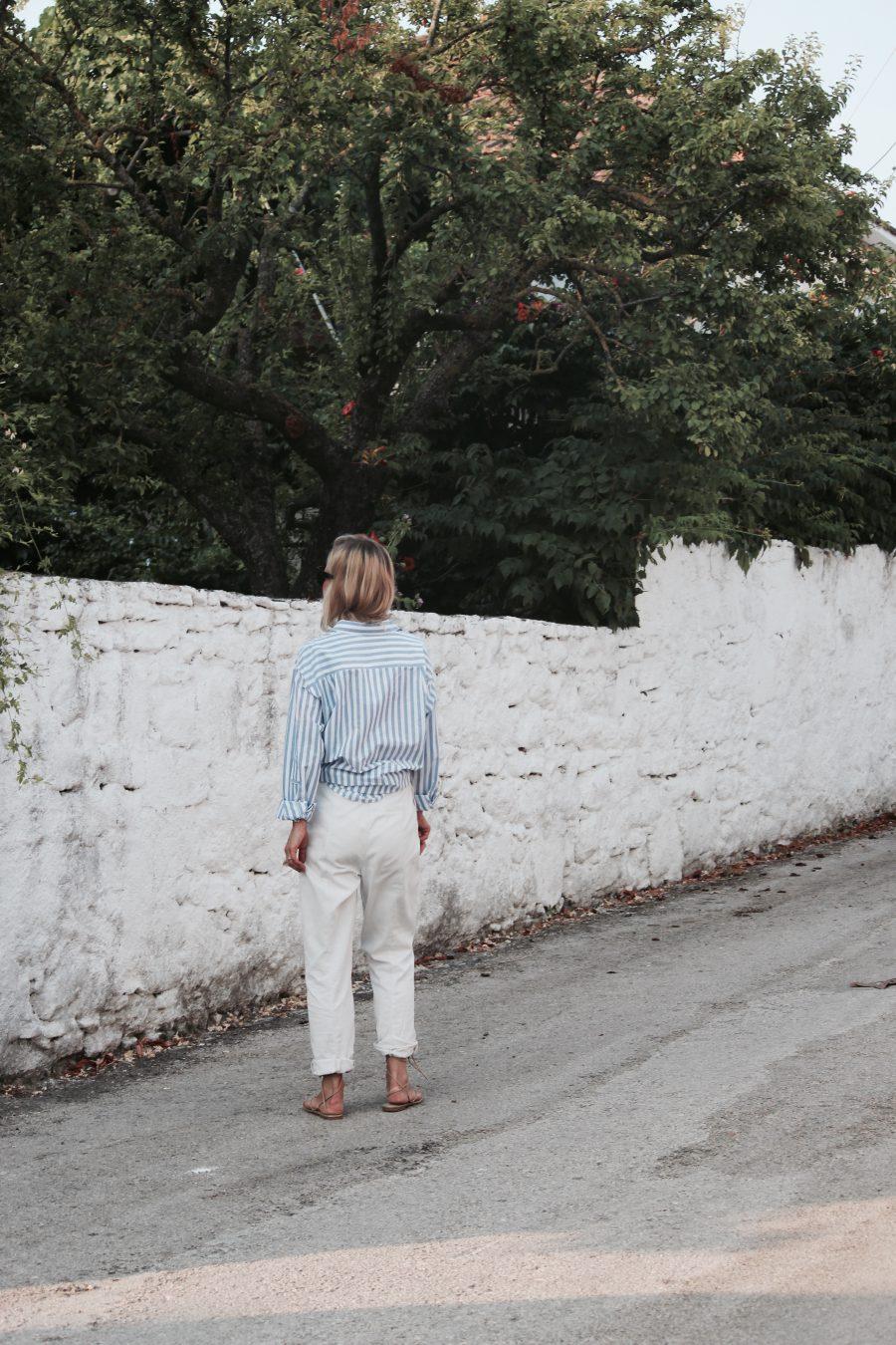 white pants H&M