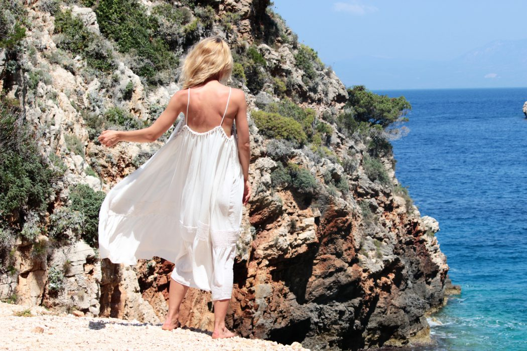 white dress H&M