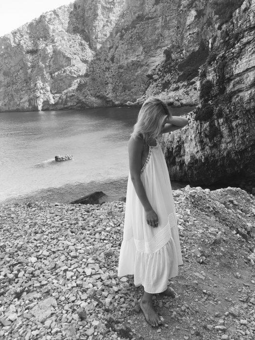 white long summer dress H&M
