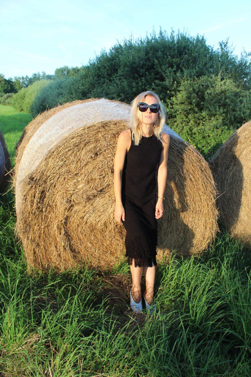 schwarzes Kleid H&M Trend