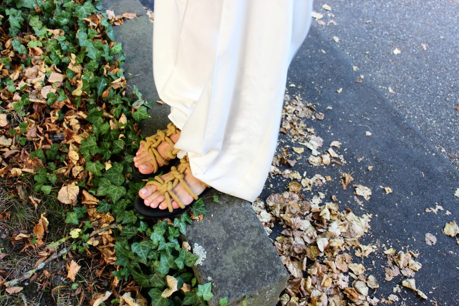 sandalen mit kordeln mango