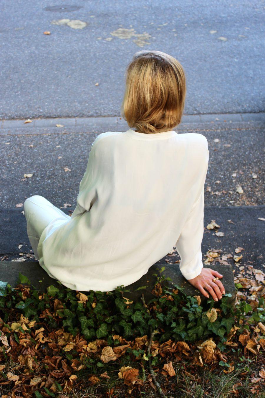 weiße bluse massimo dutti