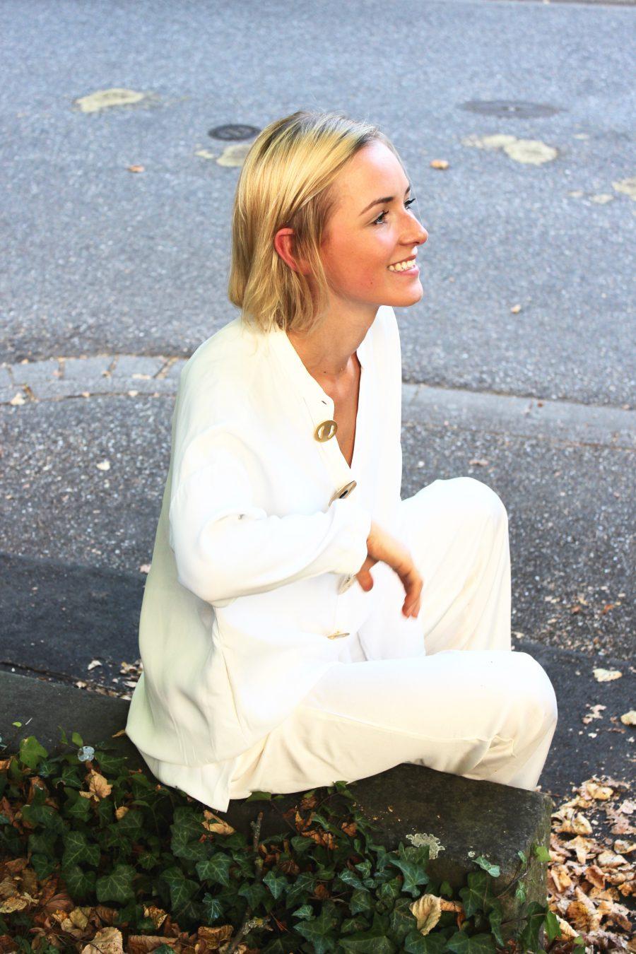 weiße lange bluse massimo dutti