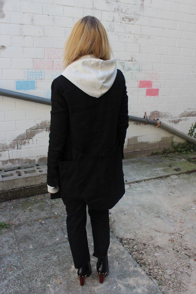 blazer mit hoodie kombiniert