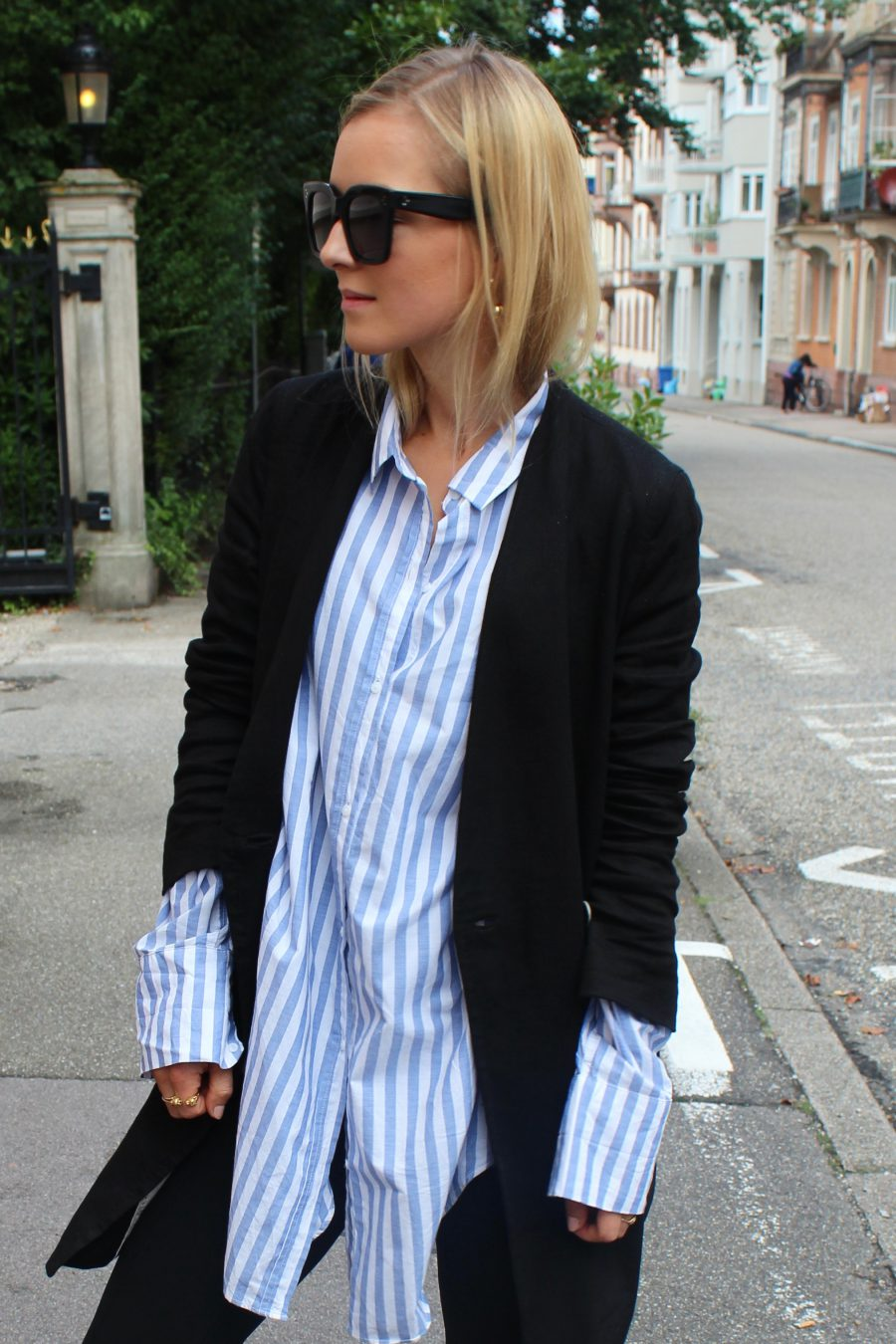 oversized shirt zara stripes
