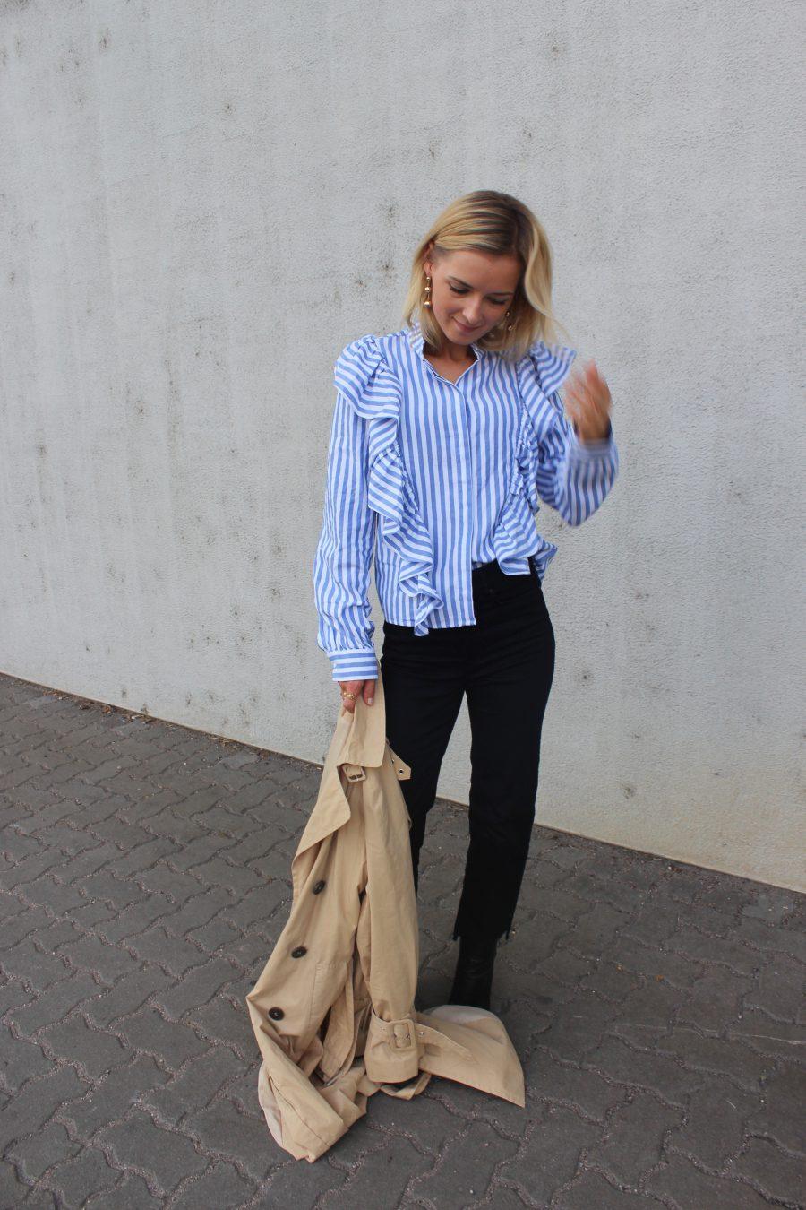 Volant Bluse H&M