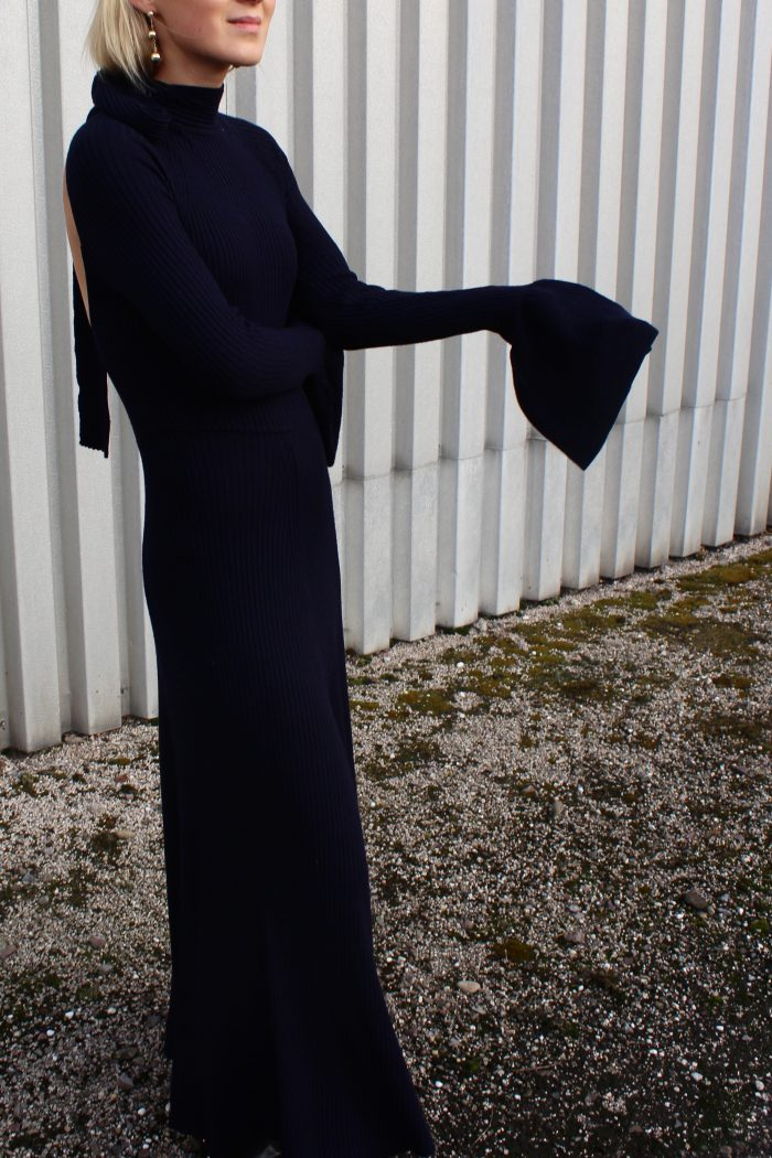 Long dress navy blue