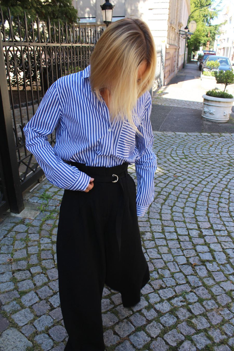 wide pants high waisted H&M