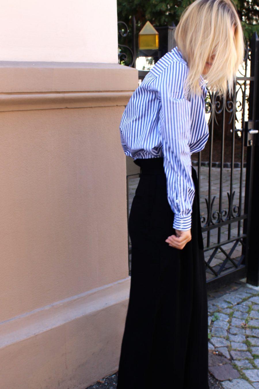 weite schwarze Hose H&M