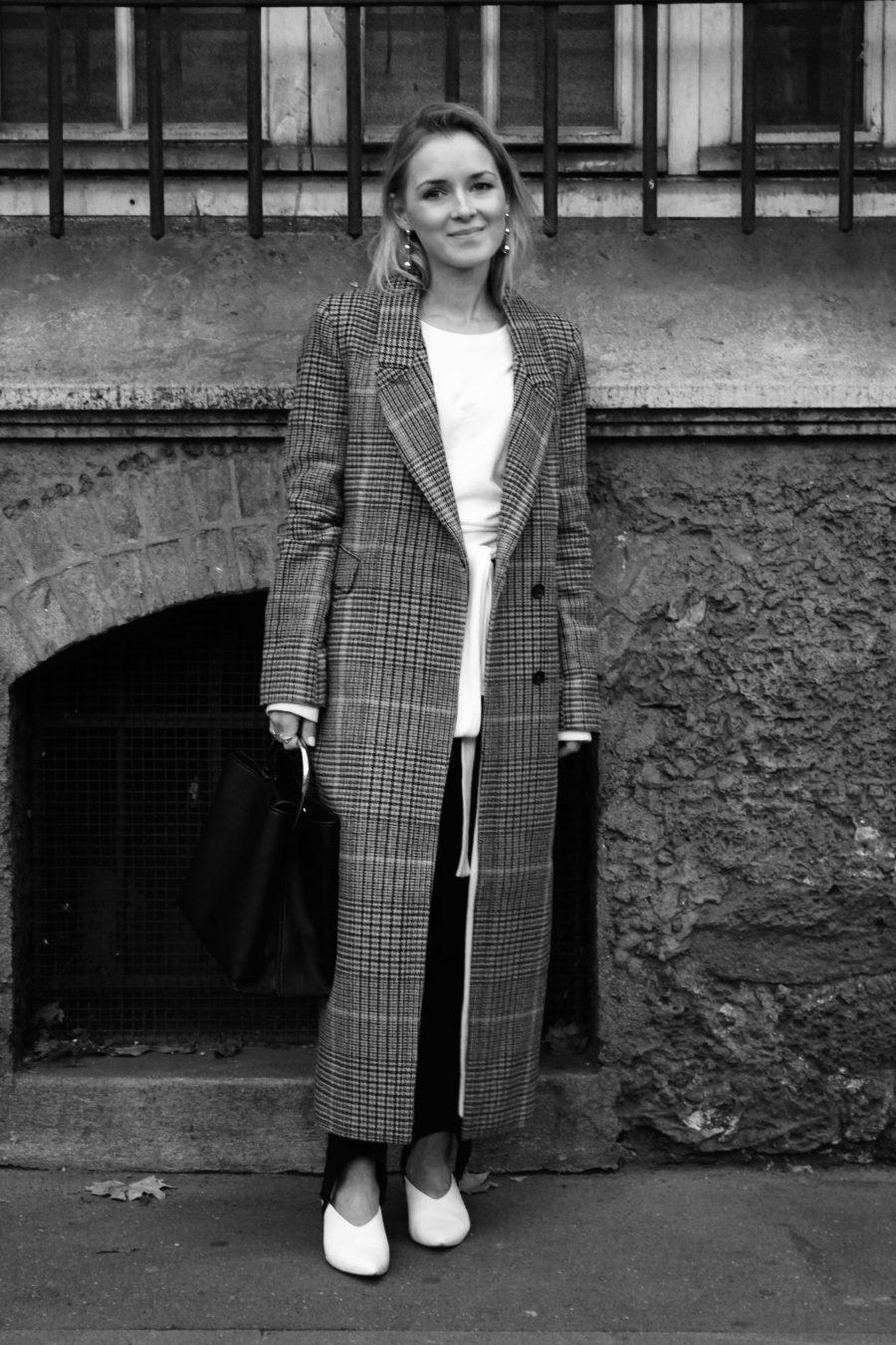 langer karierter mantel H&M trend