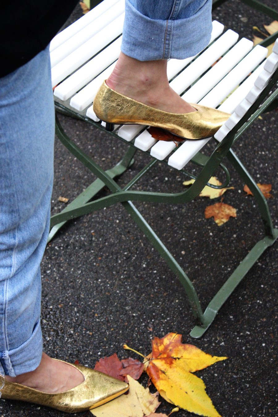 goldene Schuhe H&M Trend