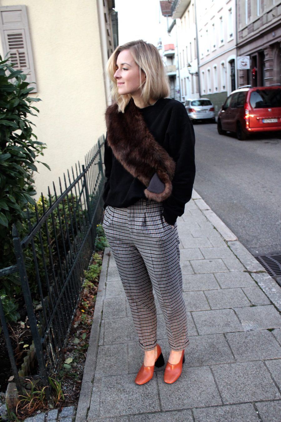 Check Trousers zara