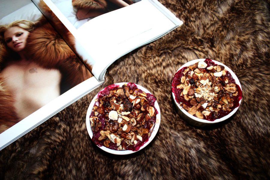 Beeriger Porridge Auflauf  01.12.2016