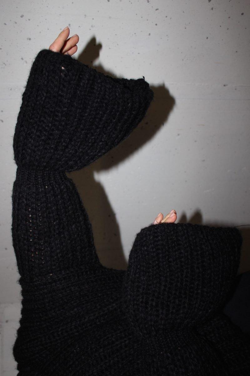strickpullover schwarz