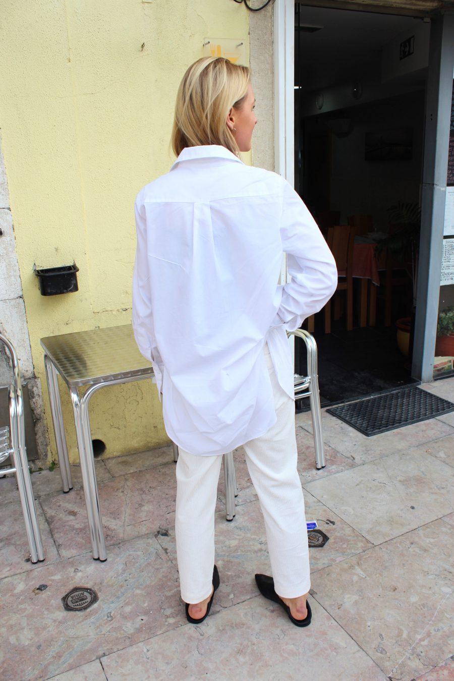 weiße bluse lang