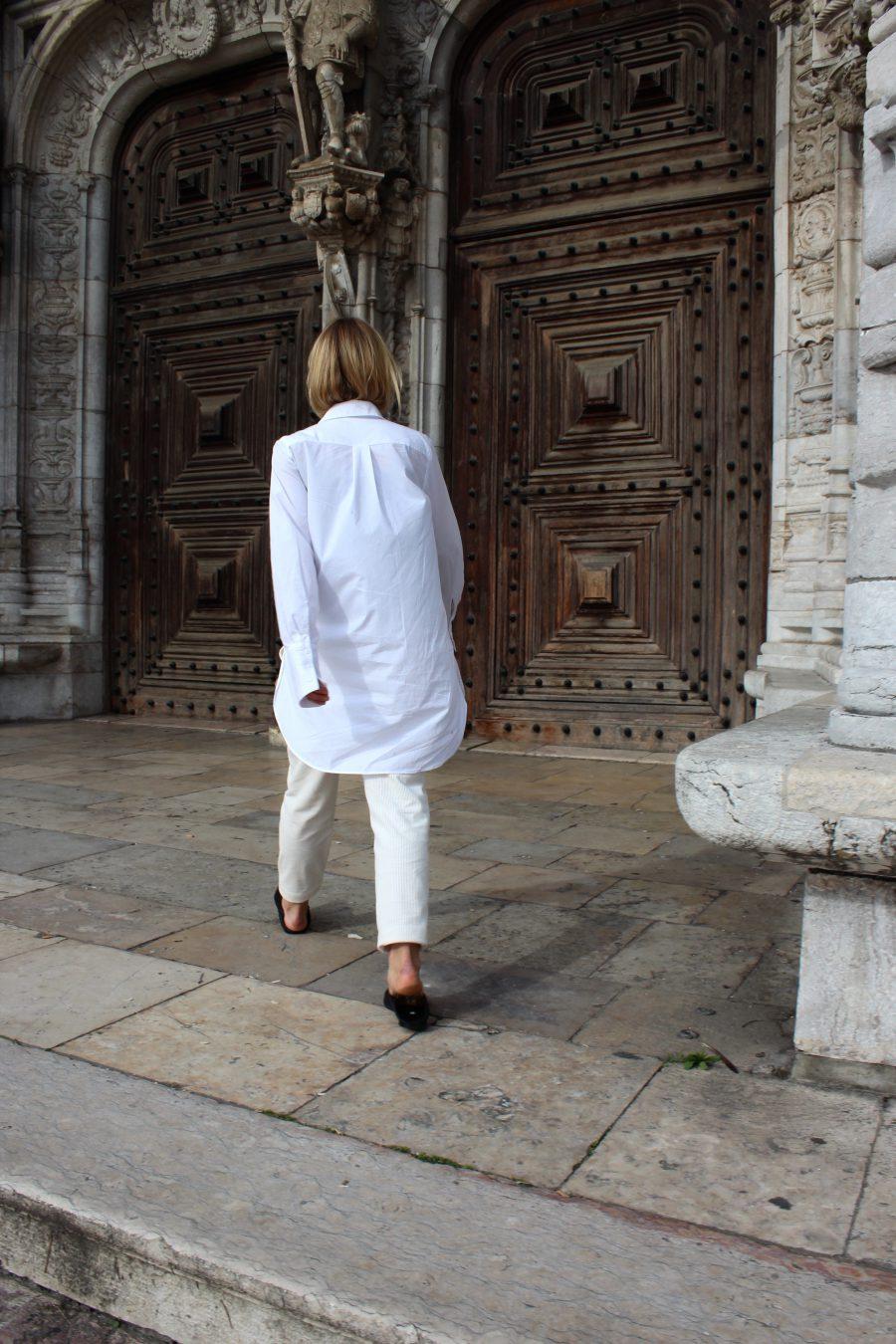 lange bluse white