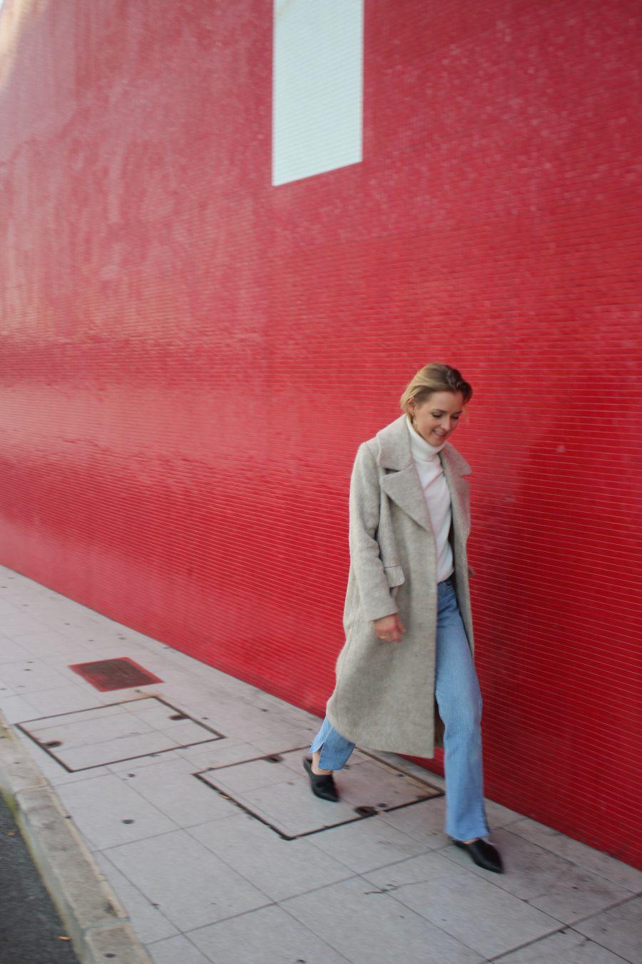 langer mantel H&M trend beige