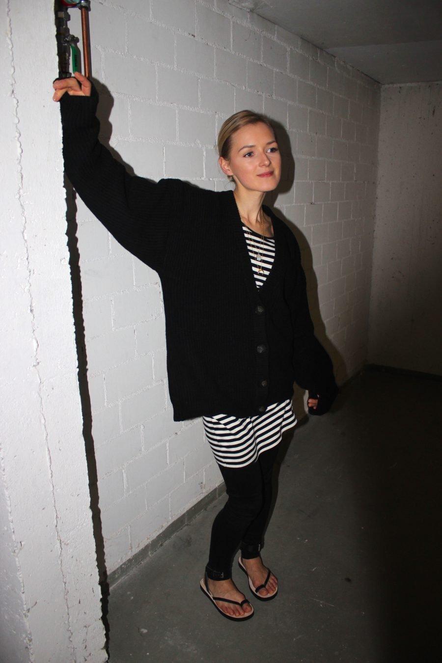 black cardigan H&M Trend