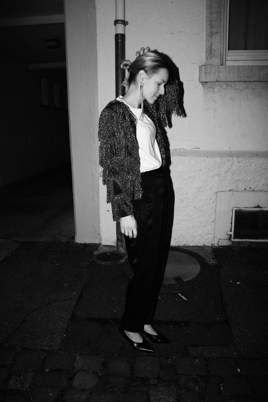 glitter jacket H&M