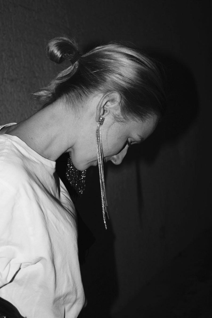 long earrings H&M sliver