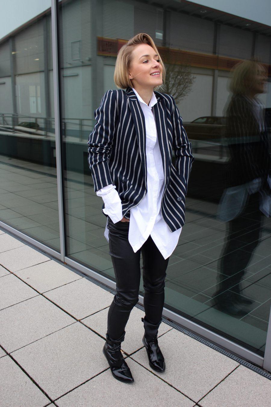 gestreifter Blazer H&M