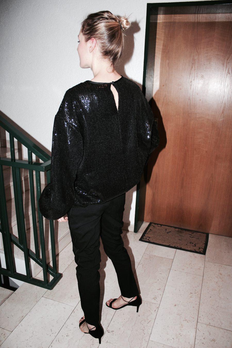 glitter kleid H&M