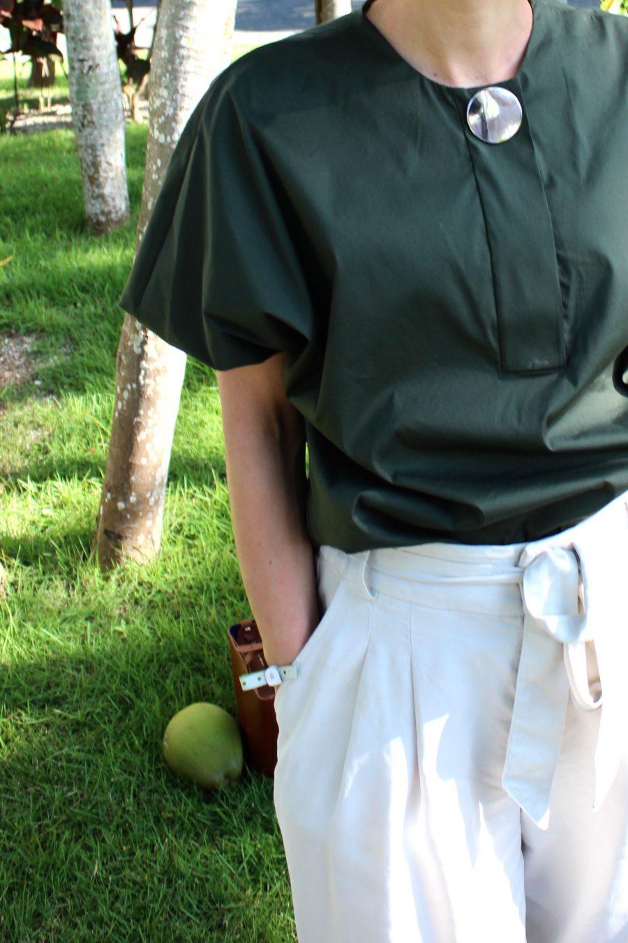 green céline top