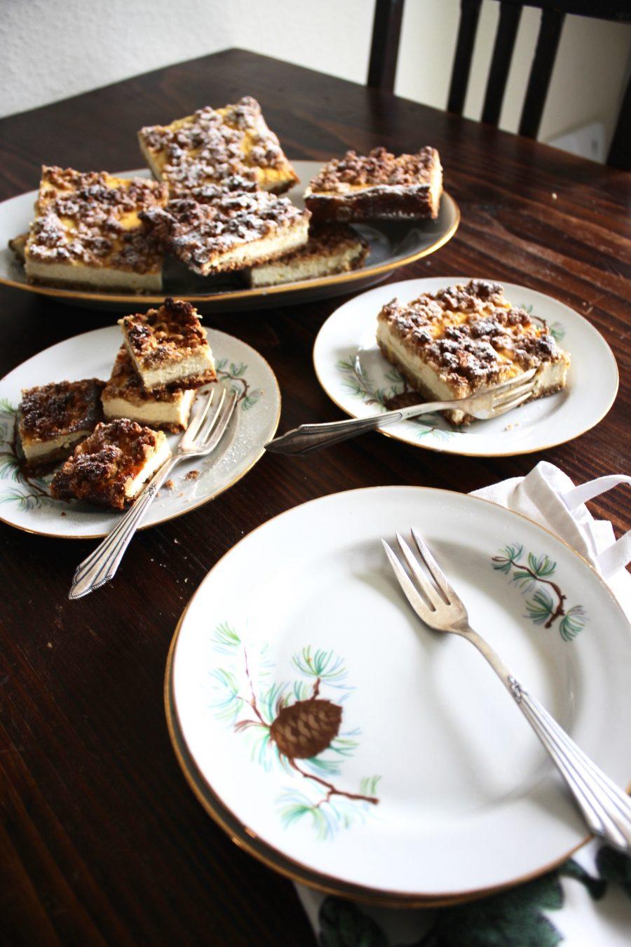 Quark-Streusel-Kuchen gesund und lecker