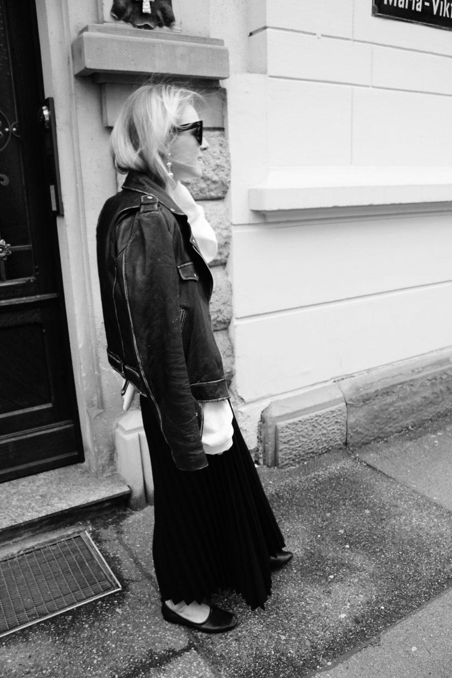 leather jacket zara vintage