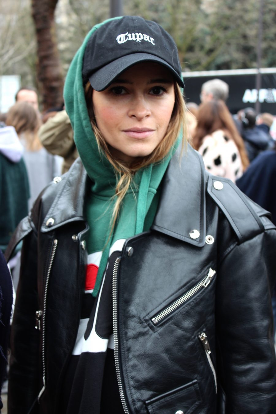 Miroslava Duma Street Style Paris fashion Week 2017 FW