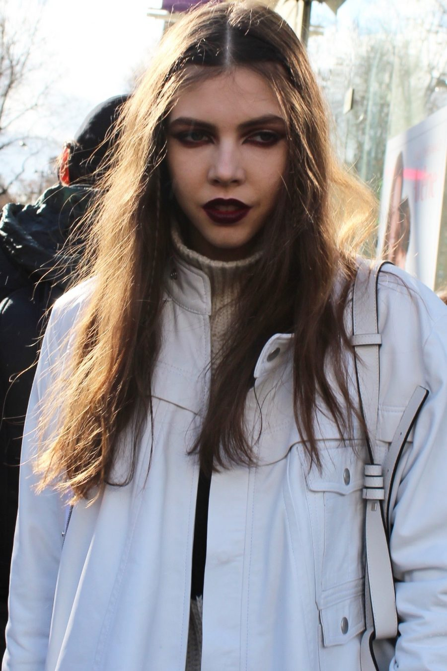 Model after Valentino Show in Paris 2017 FW