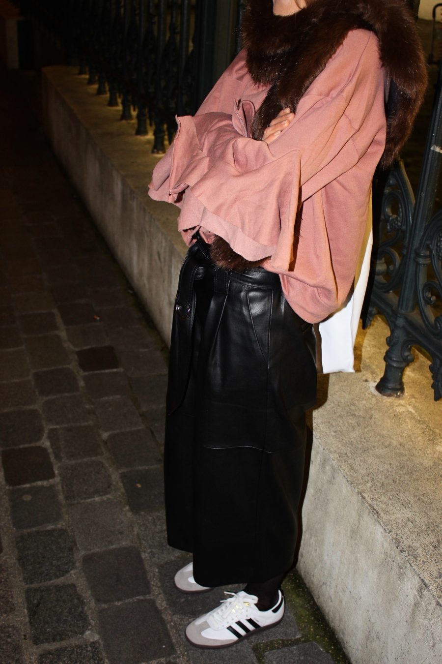 leather pants culotte mango