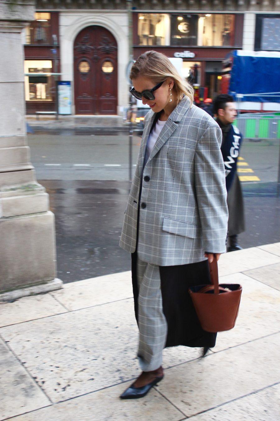 oversized suit zara study grey ss17