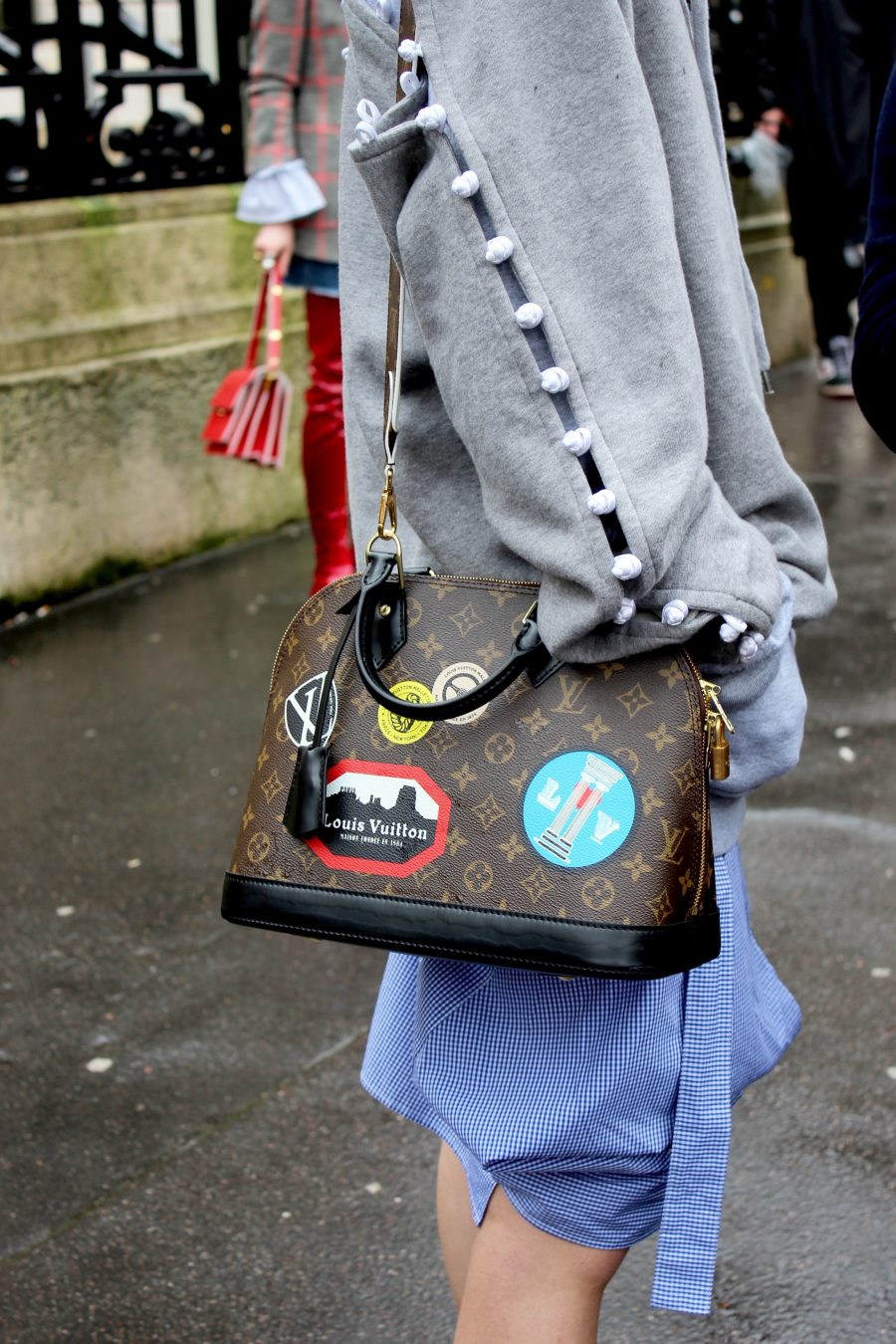 Paris Fashion Week AH17 Street Style Louis Vuitton