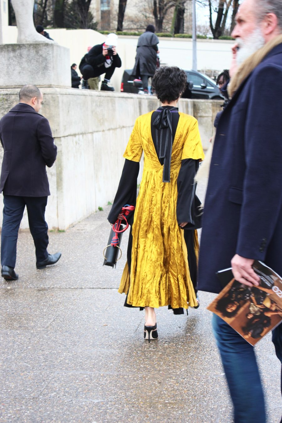 Paris Fashion Week AH17 Street Style after Hermes