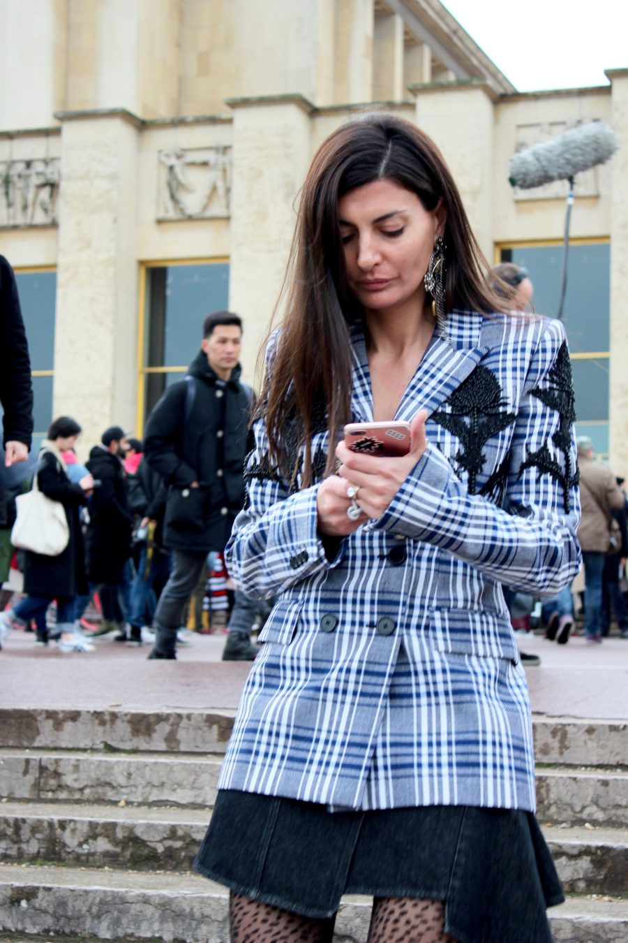 Paris Fashion Week AH17 Street Style Giovanna Engelbert
