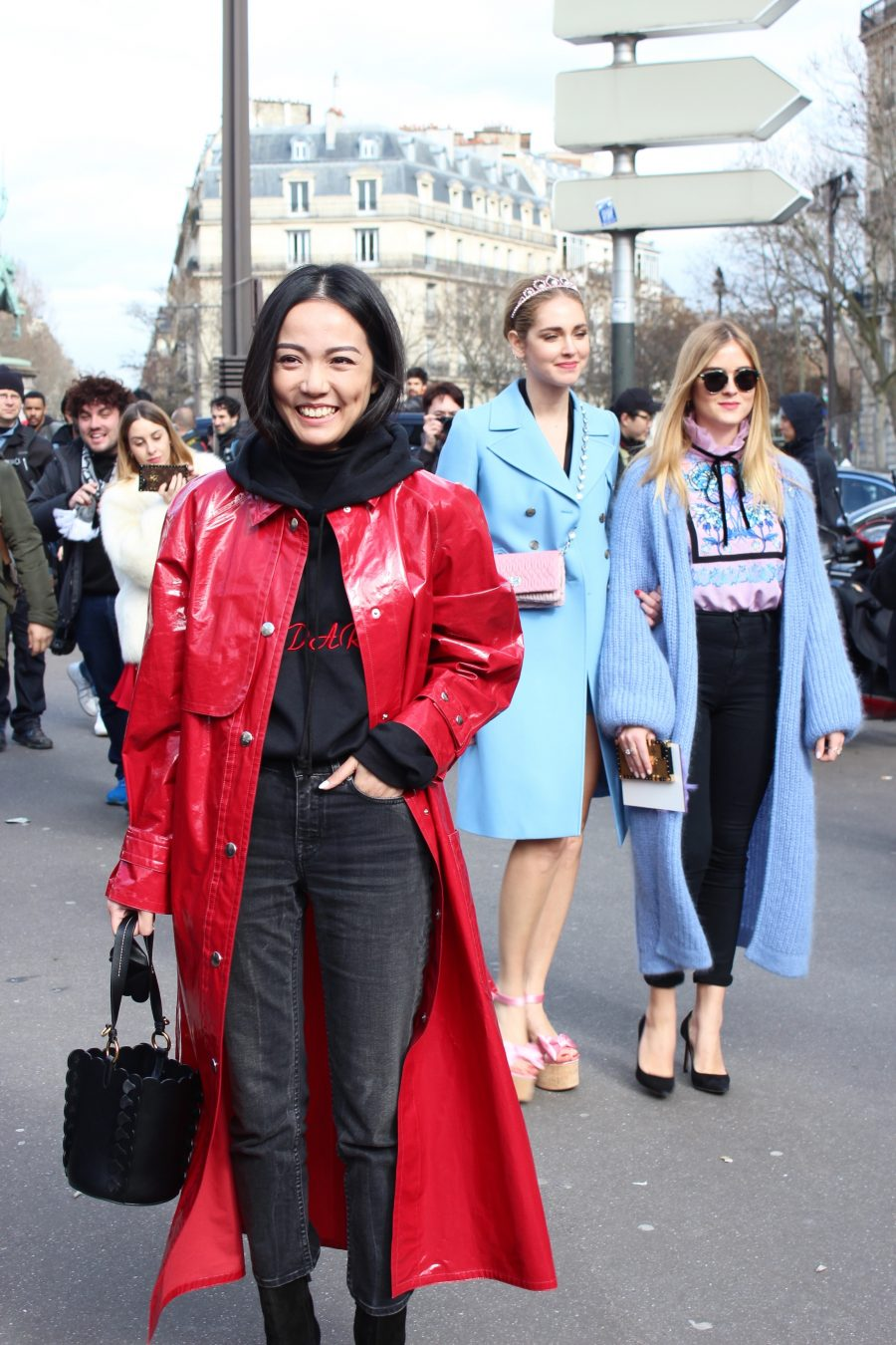 Paris Fashion Week Street Style Looks AH17 Miu Miu Chiara Ferragni