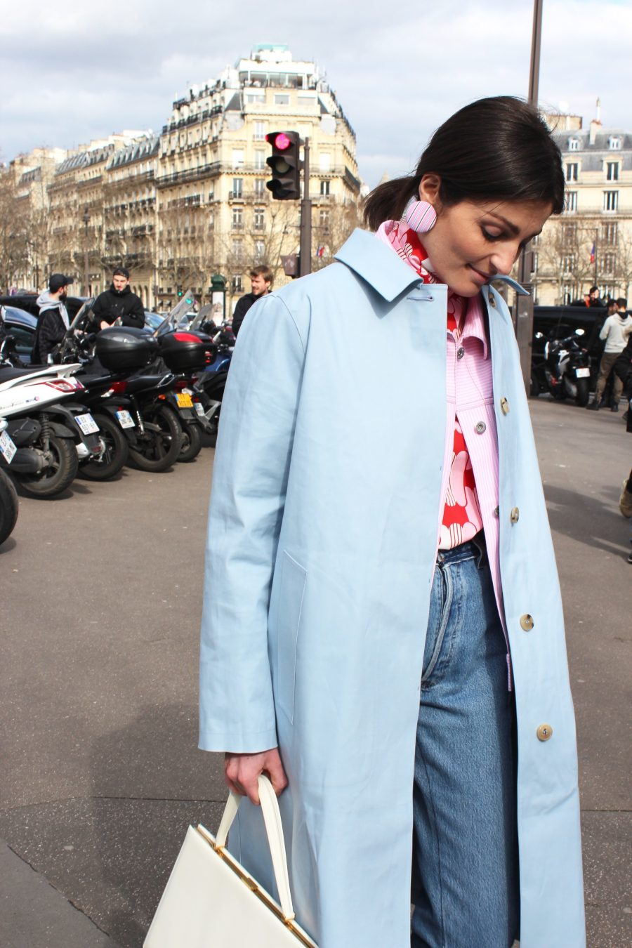 Paris Fashion Week Street Style Looks AH17 Irina Linovich Miu Miu