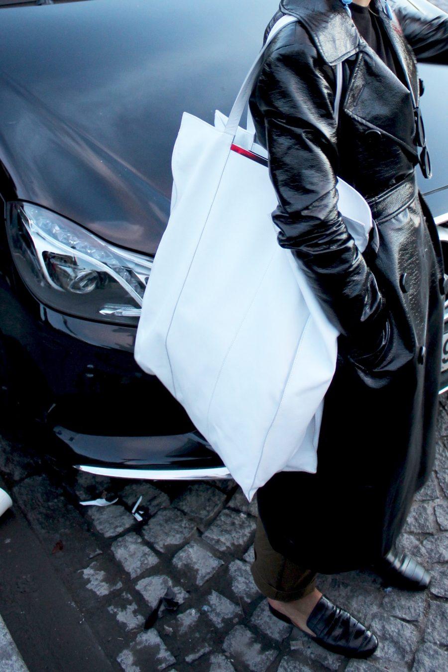 weißer XXL Celine Shopper Mango Limited Edition