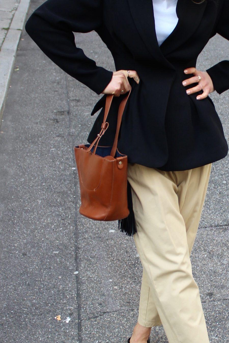 figurbetonter blazer H&M schwarz