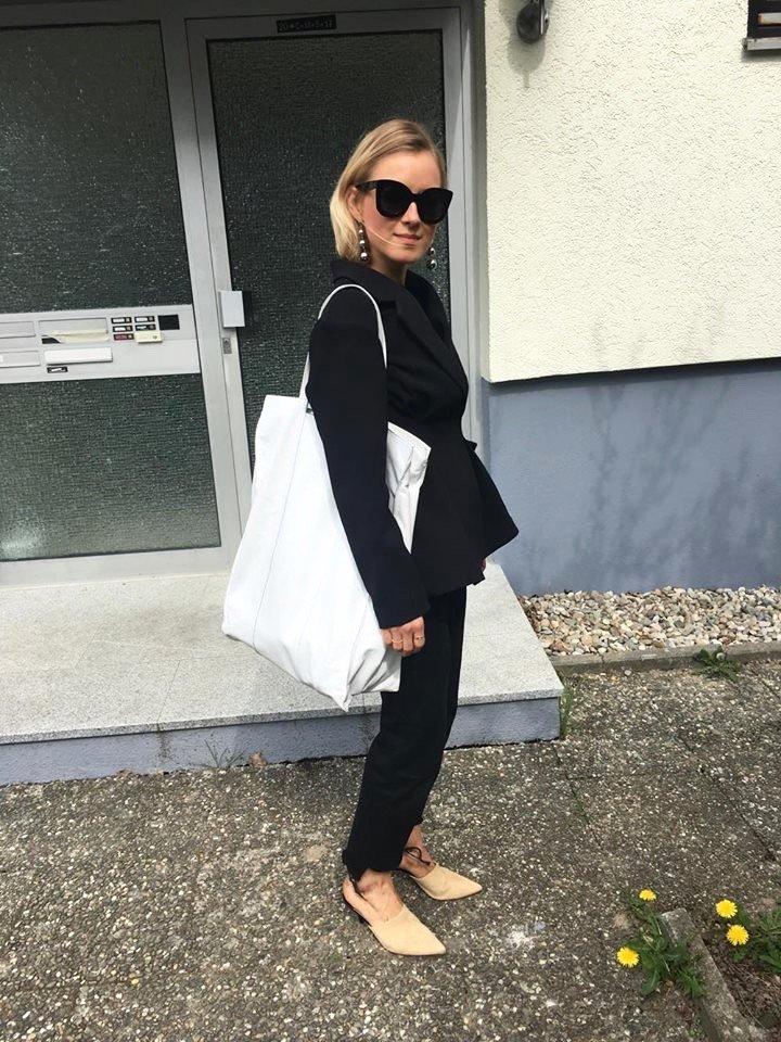 xxl shopper bag mano white