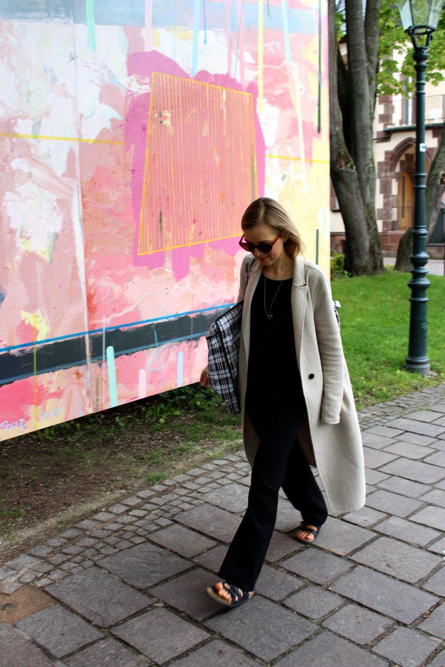 beige coat zara