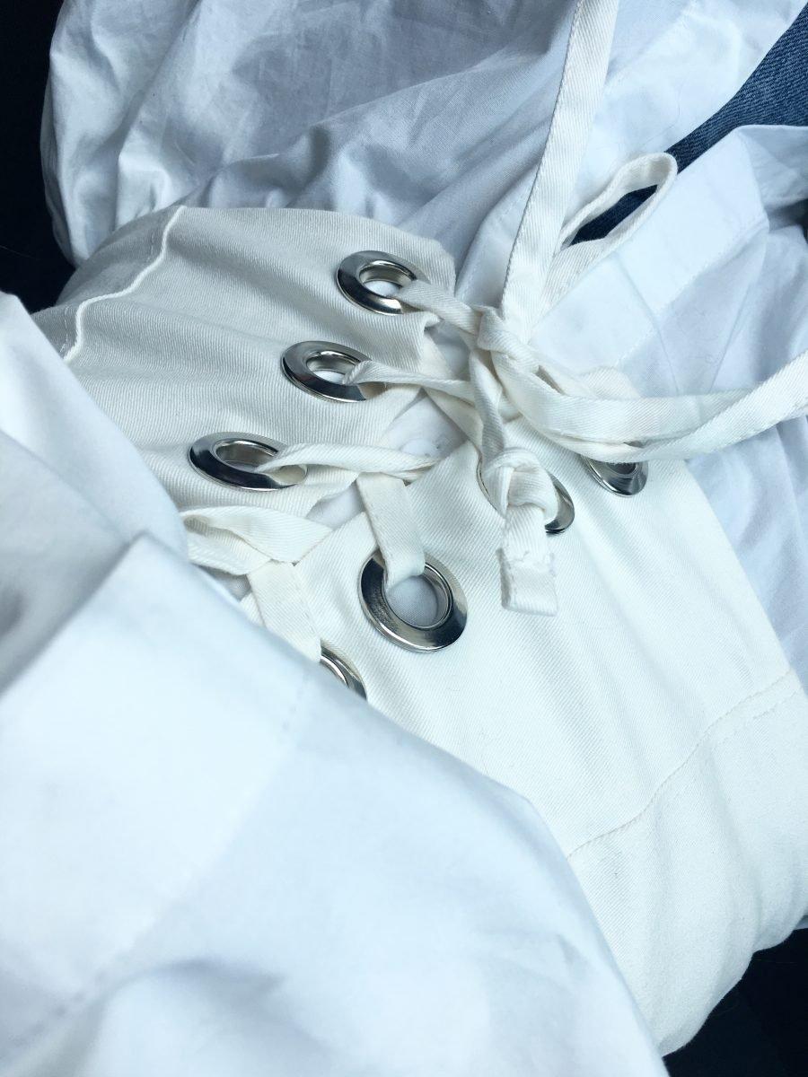 white Corset zara