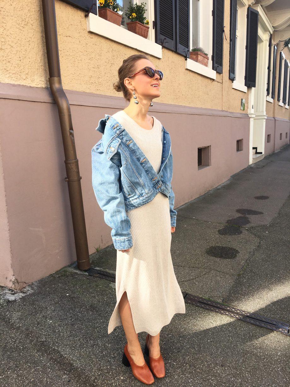 Knit Dress & Denim Jacket |14.04.2017