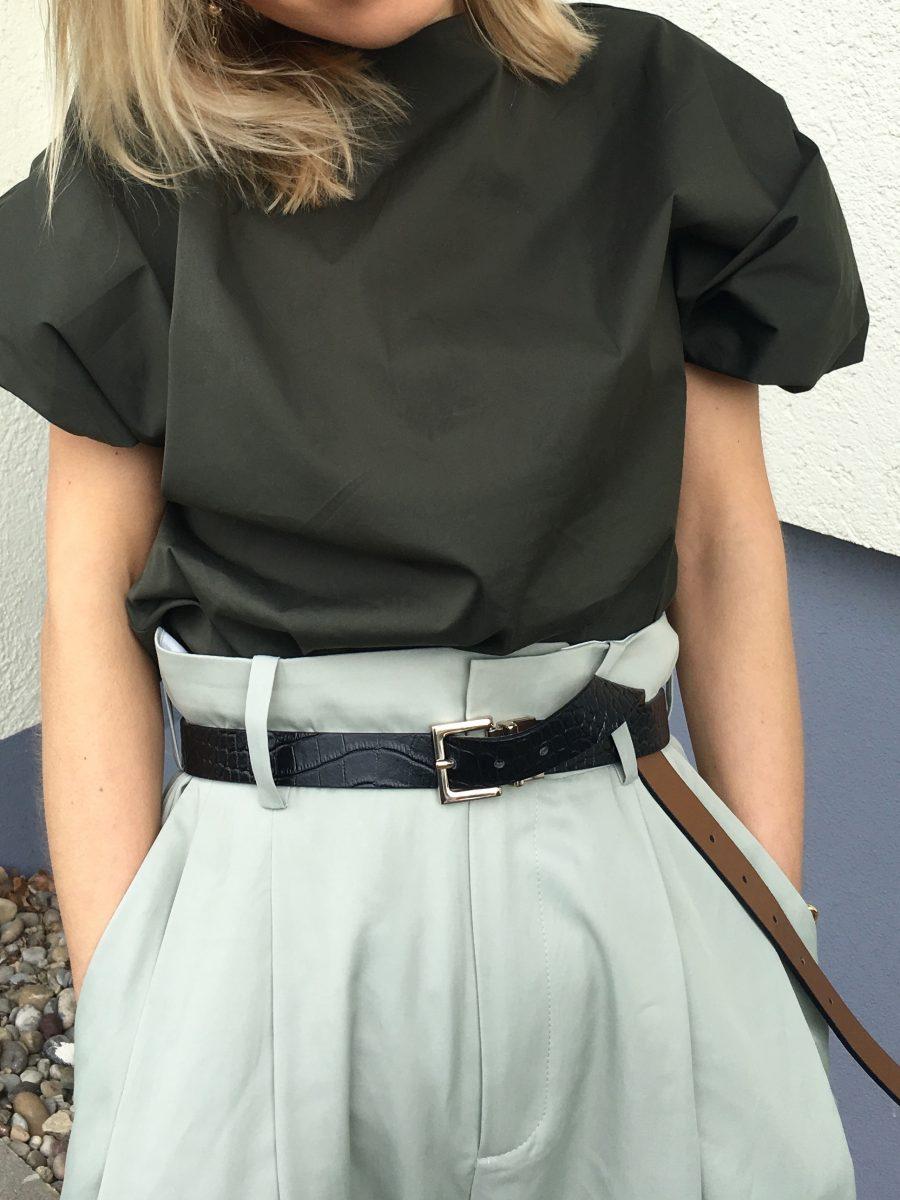 massimo dutti belt black