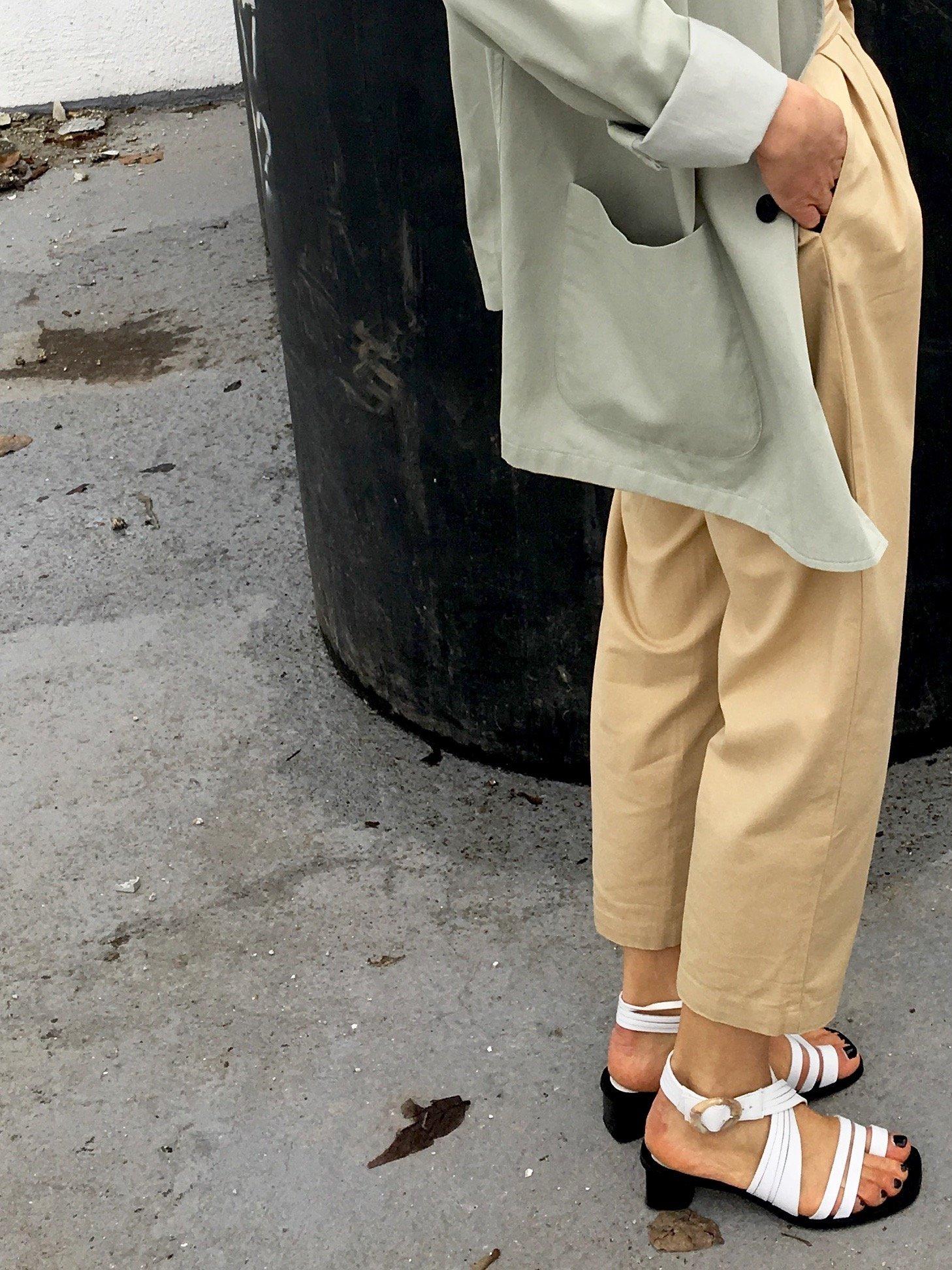 mango weiße Sandalen